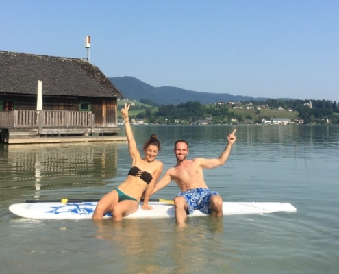 Stand Up Paddling in Mondsee